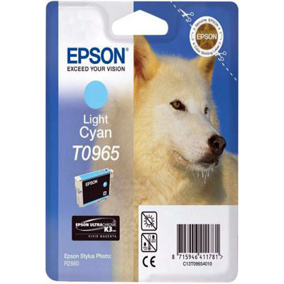 Genuine Epson C13T09654010 Light Cyan Ink Cartridge (T0965LCOEM)