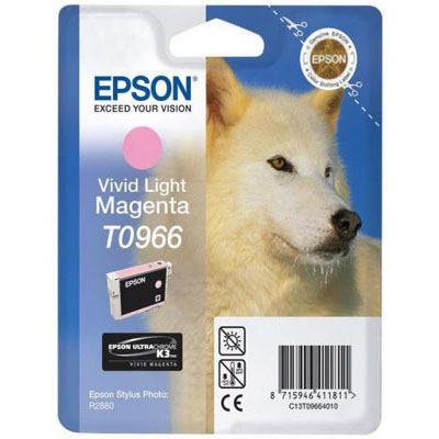 Genuine Epson C13T09664010 Vivid Light Magenta Ink Cartridge (T0966LMOEM)