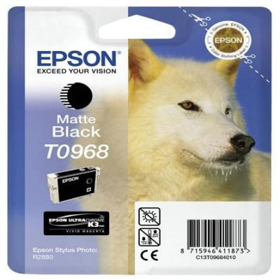 Genuine Epson C13T09684010 Matte Black Ink Cartridge (T0968MBKOEM)