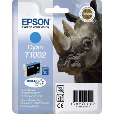 Genuine Epson C13T10024010 Cyan Ink Cartridge (T1002COEM)