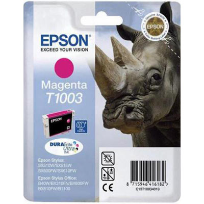 Genuine Epson C13T10034010 Magenta Ink Cartridge (T1003MOEM)