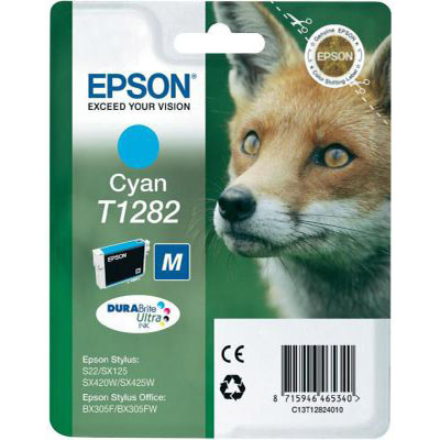 Genuine Epson C13T12824012 Cyan Ink Cartridge (T1282COEM)