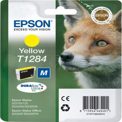 Genuine Epson C13T12844012 Yellow Ink Cartridge (T1284YOEM)