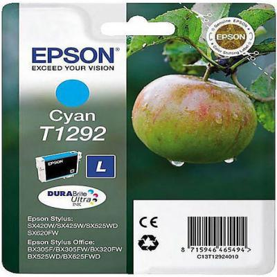 Genuine Epson C13T12924012 Cyan Ink Cartridge (T1292COEM)