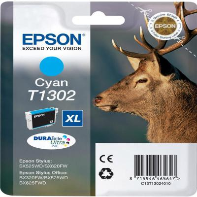 Genuine Epson C13T13024012 Cyan Ink Cartridge (T1302COEM)