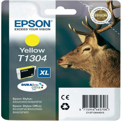 Genuine Epson C13T13044012 Yellow Ink Cartridge (T1304YOEM)