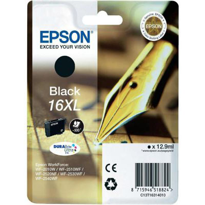 Genuine Epson C13T16314012 Black High Capacity Ink Cartridge (T1631BKHOEM)