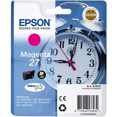 Genuine Epson C13T27034010 (27) Magenta Ink Cartridge (T27MOEM)