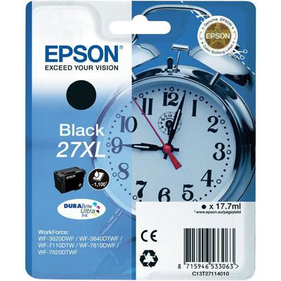 Genuine Epson C13T27114010 (27XL) Black High Capacity Ink Cartridge (T27XLBKOEM)