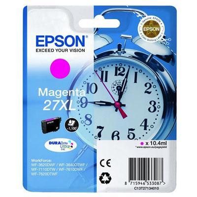 Genuine Epson C13T27134010 (27XL) Magenta High Capacity Ink Cartridge (T27XLMOEM)