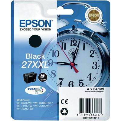 Genuine Epson C13T27914010 (27XXL) Black High Capacity Ink Cartridge (T27XXLBKOEM)