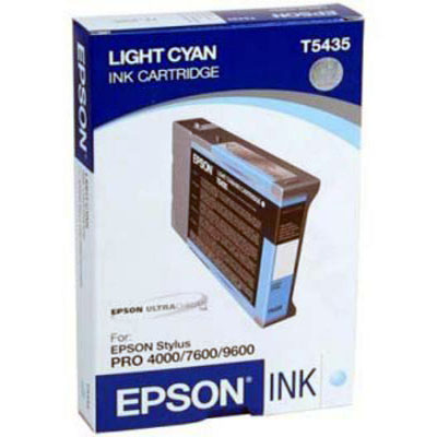 Genuine Epson C13T543500 Light Cyan Ink Cartridge (T5435LCOEM)