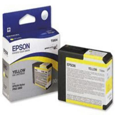 Genuine Epson C13T580400 Yellow Ink Cartridge (T5804YOEM)