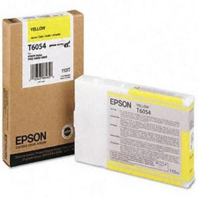 Genuine Epson C13T605400 Yellow Ink Cartridge (T6054YOEM)