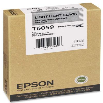 Genuine Epson C13T605900 Light Light Black Ink Cartridge (T6059LLBKOEM)