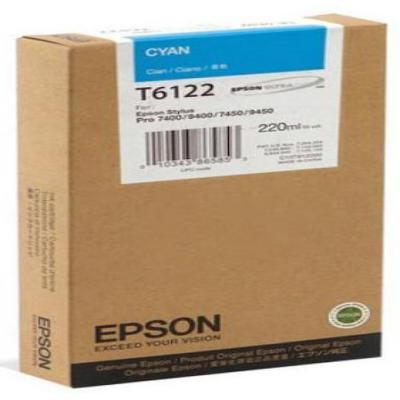 Genuine Epson C13T612200 Cyan High Capacity Ink Cartridge (T6122CHOEM)