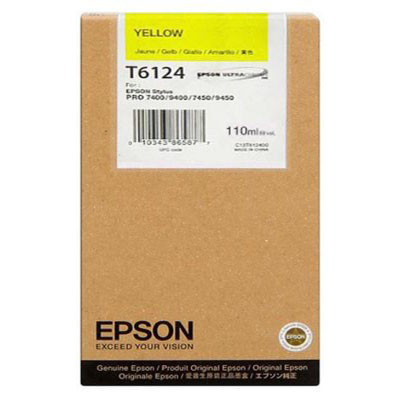 Genuine Epson C13T612400 Yellow High Capacity Ink Cartridge (T6124YHOEM)