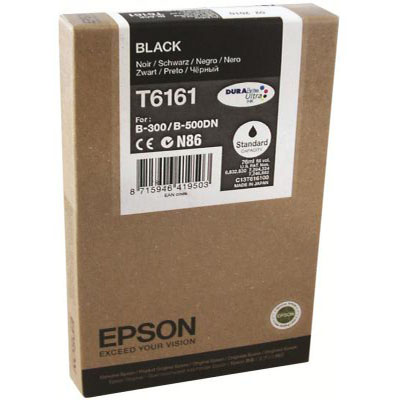 Genuine Epson C13T616100 Black Ink Cartridge (T6161BKOEM)
