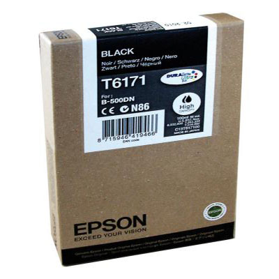 Genuine Epson C13T617100 Black High Capacity Ink Cartridge (T6171BKOEM)