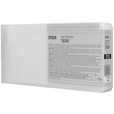 Genuine Epson C13T636900 Light Light Black High Capacity Ink Cartridge (T6369LLBKHOEM)