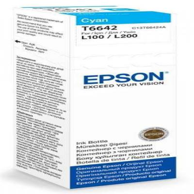 Genuine Epson C13T664240 Cyan Ink Bottle (T6642COEM)