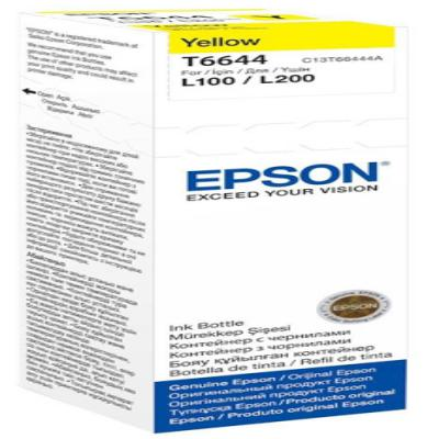 Genuine Epson C13T664440 Yellow Ink Bottle (T6644YOEM)