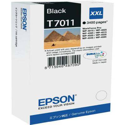 Genuine Epson C13T70114010 Black Extra High Capacity Ink Cartridge (T7011BKHOEM)