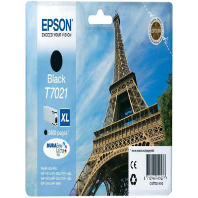 Genuine Epson C13T70214010 Black High Capacity Ink Cartridge (T7021BKHOEM)