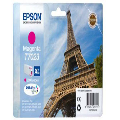 Genuine Epson C13T70234010 Magenta High Capacity Ink Cartridge (T7023MHOEM)