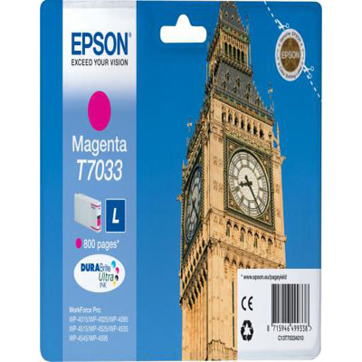 Genuine Epson C13T70334010 Magenta Ink Cartridge (T7033MOEM)