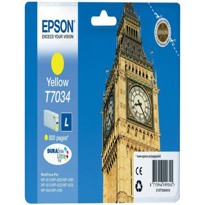 Genuine Epson C13T70344010 Yellow Ink Cartridge (T7034YOEM)