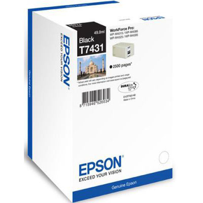 Genuine Epson C13T74414010 Black Ink Cartridge (T7441BKOEM)