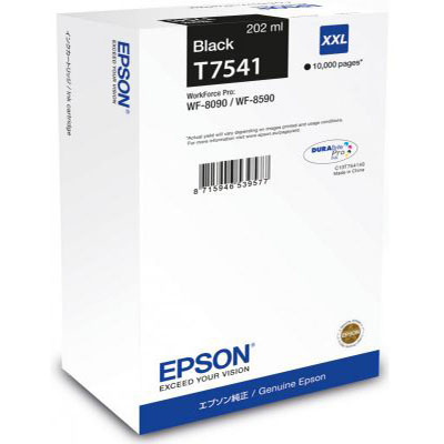 Genuine Epson C13T754140 Black Extra High Capacity Ink Cartridge (T7541BKHOEM)