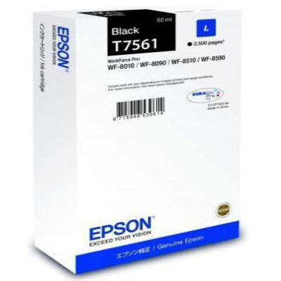 Genuine Epson C13T756140 Black Ink Cartridge (T7561BKOEM)