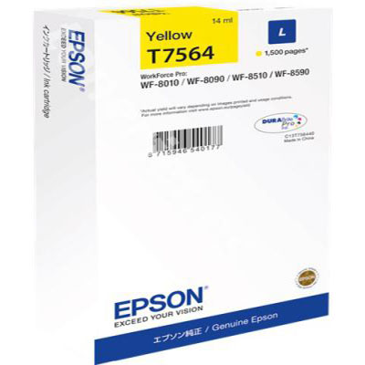 Genuine Epson C13T756440 Yellow Ink Cartridge (T7564YOEM)