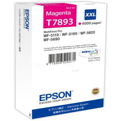 Genuine Epson C13T789340 Magenta Extra High Capacity Ink Cartridge (78XXLMOEM)