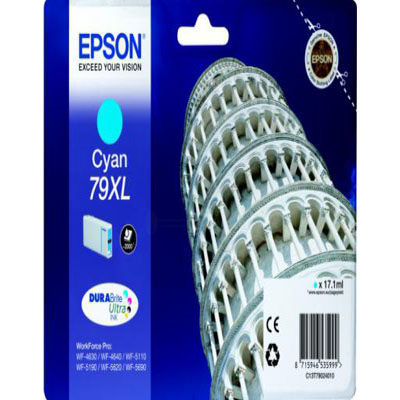 Genuine Epson C13T79024010 Cyan High Capacity Ink Cartridge (T7902CHOEM)