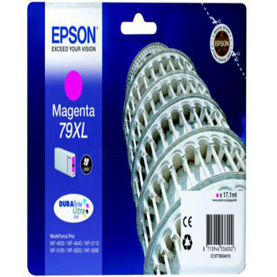 Genuine Epson C13T79034010 Magenta High Capacity Ink Cartridge (T7903MHOEM)