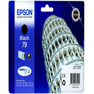 Genuine Epson C13T79114010 Black Ink Cartridge (T7911BKOEM)