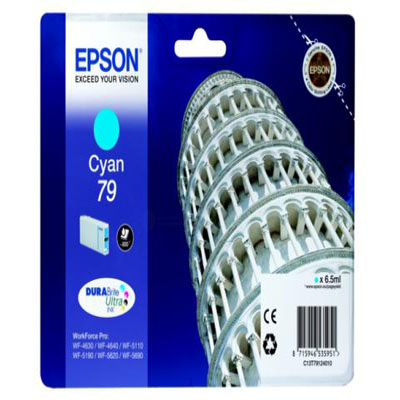 Genuine Epson C13T79124010 Cyan Ink Cartridge (T7912COEM)