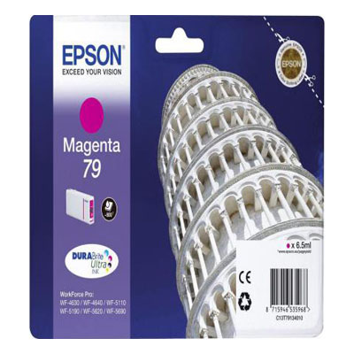 Genuine Epson C13T79134010 Magenta Ink Cartridge (T7913MOEM)