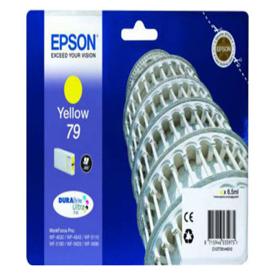 Genuine Epson C13T79144010 Yellow Ink Cartridge (T7913MOEM)