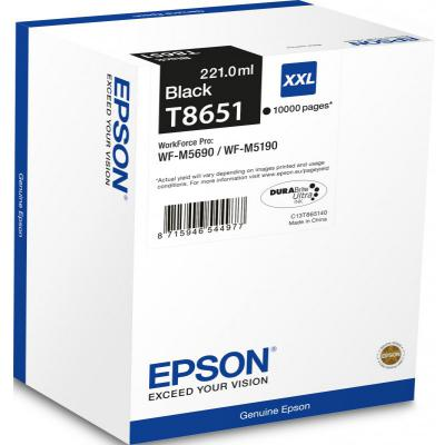 Genuine Epson C13T865140 Black Extra High Capacity Ink Cartridge (C13T865140)