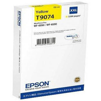 Genuine Epson C13T907440 Yellow Extra High Capacity Ink Cartridge (T9074YHOEM)