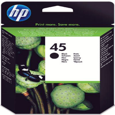 Genuine HP 51645AE (#45HCBK) Black High Capacity Ink Cartridge (HP45BKHOEM)
