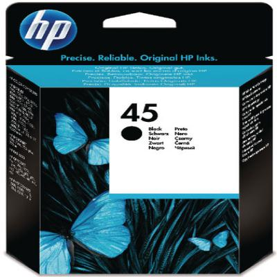 Genuine HP 51645GE (#45) Black Ink Cartridge (HP45BKOEM)