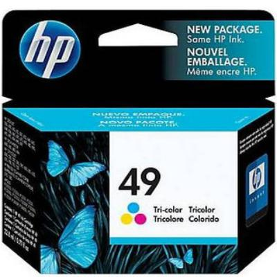 Genuine HP 51649A (#49) Tri Colour ink Cartridge (HP49CLROEM)