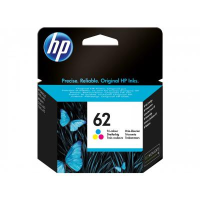 Genuine HP C2P06AE (#62) Tri-Color Ink Cartridge (HP62CLROEM)