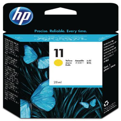Genuine HP C4838AE (#11) Yellow Ink Cartridge (HP11YOEM)