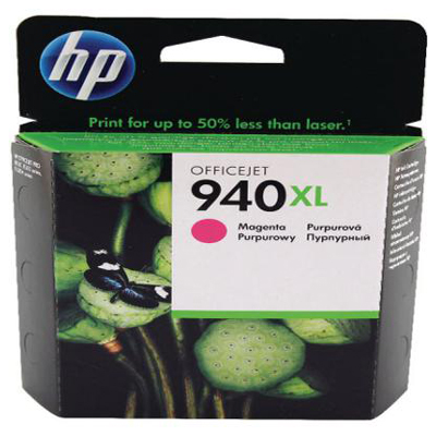 Genuine HP C4908AE (#940H) Magenta High Capacity Ink Cartridge (HP940XLMHOEM)